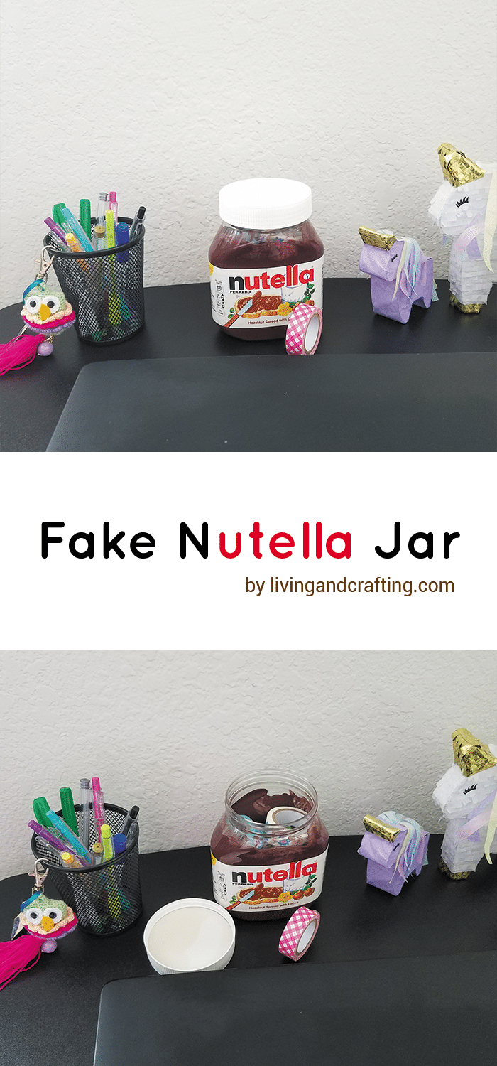 DIY fake nutella jar