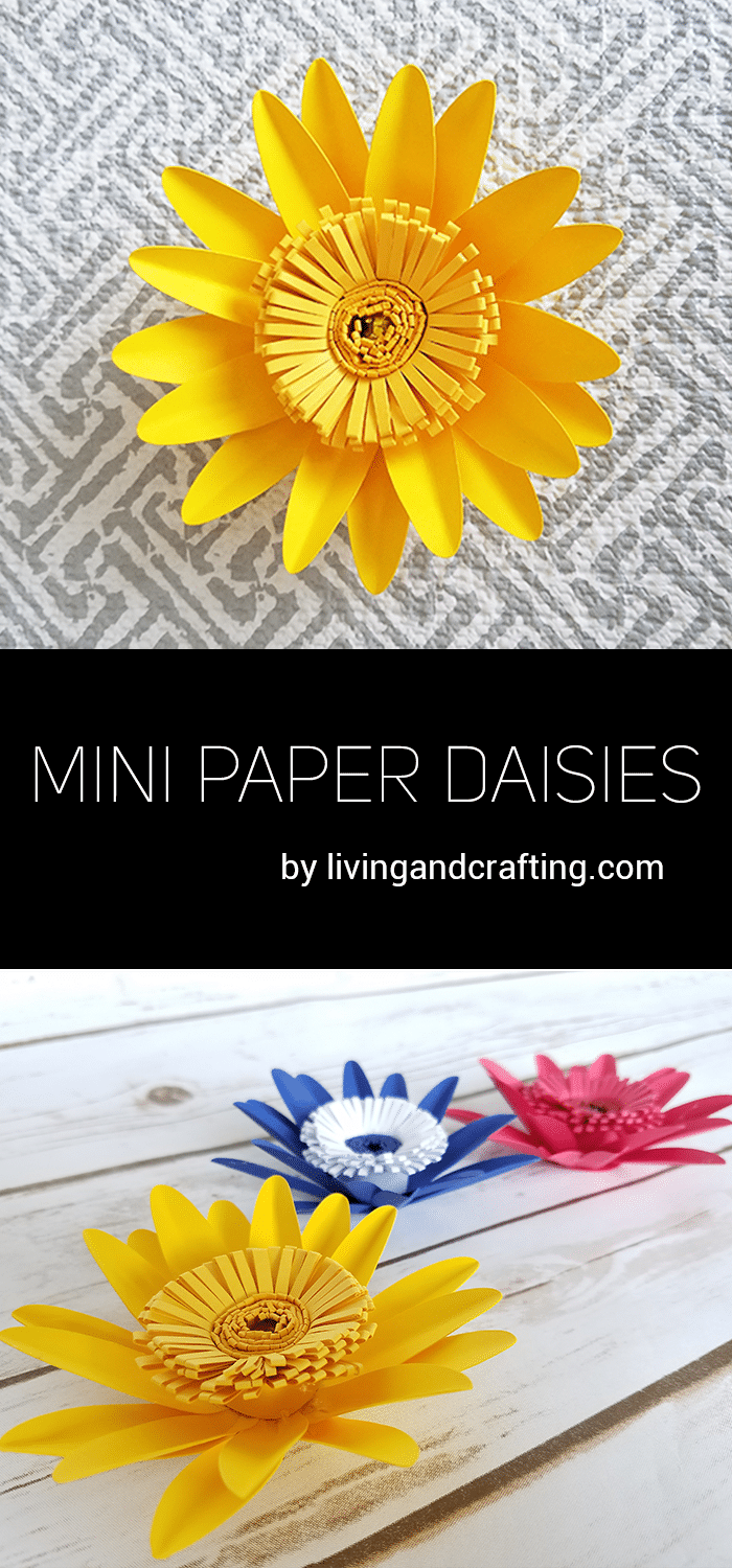 Mini Paper Daisies Living And Crafting