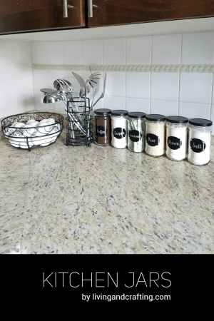 Recycled Kitchen Jars