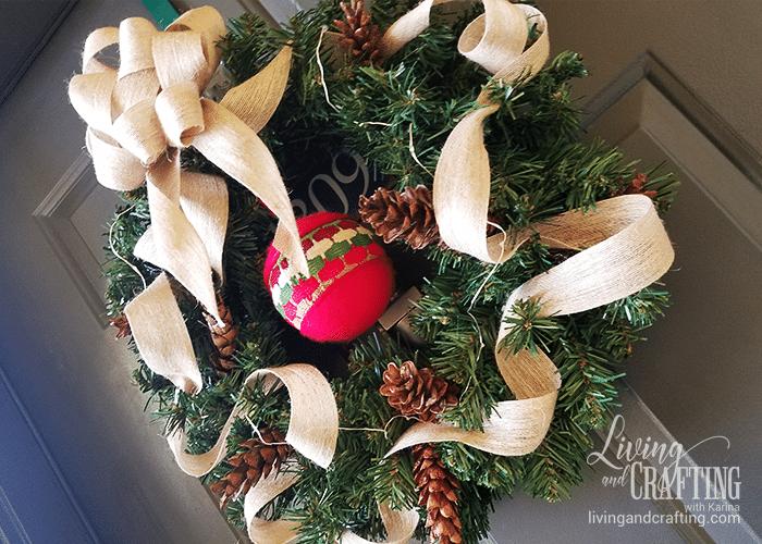 DIY Burlap Christmas Wreath door