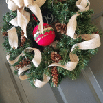 Burlap Christmas Wreath ft
