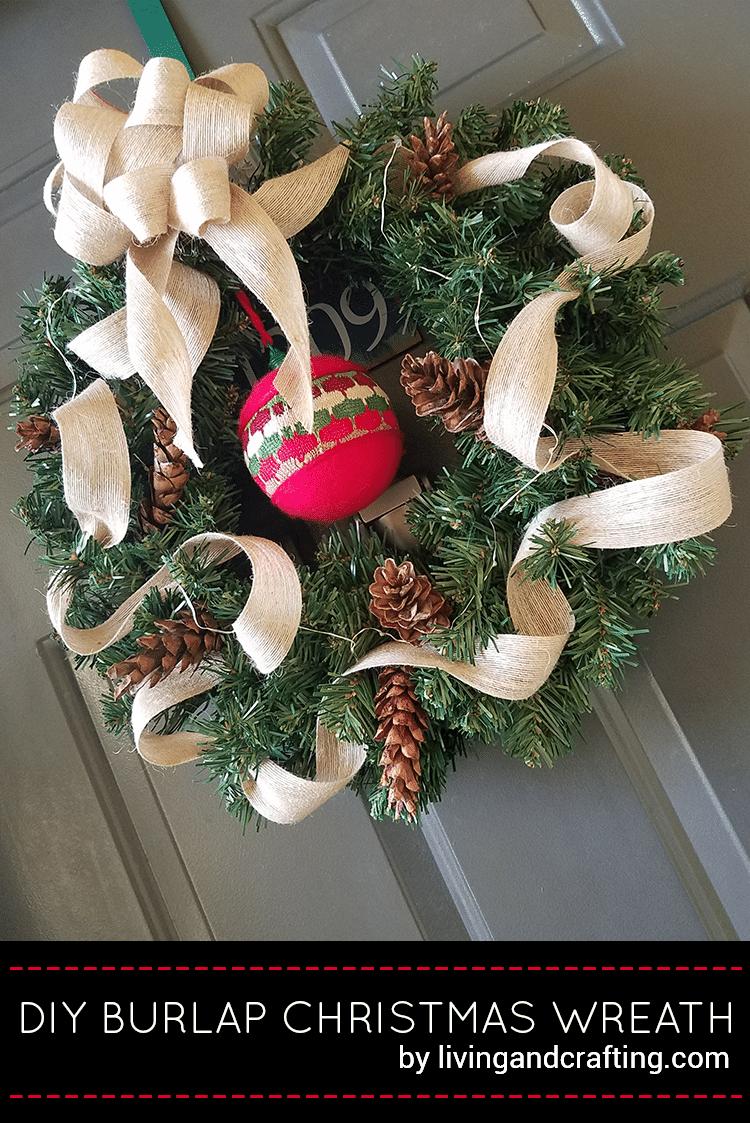 Burlap Christmas Wreath ft