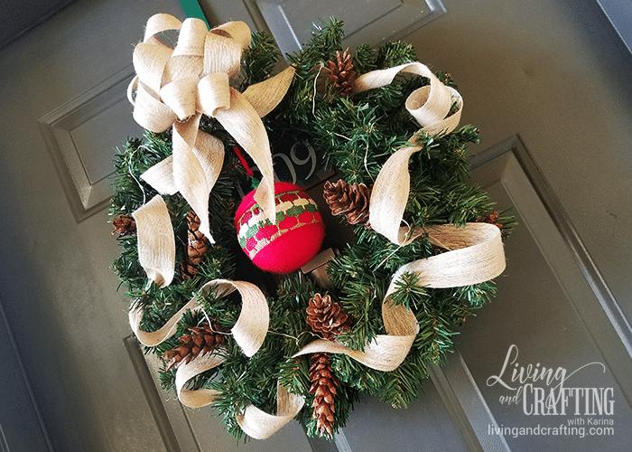 DIY Burlap Christmas Wreath rustic