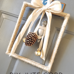 DIY Jute Cord Frame Wreath ft