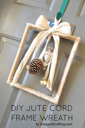 DIY Jute Cord Frame Wreath