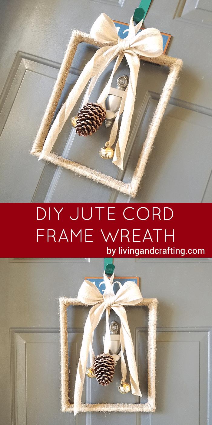 DIY Jute Cord Frame Wreath