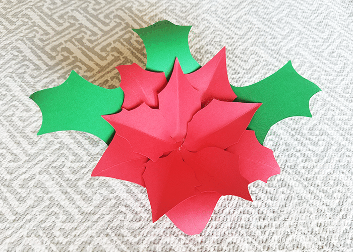 Poinsettia Paper Flower 7