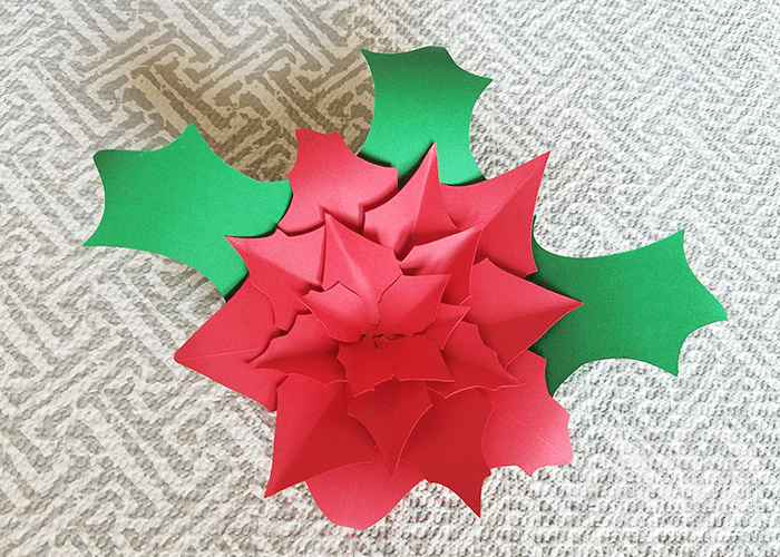 Poinsettia Paper Flower 8