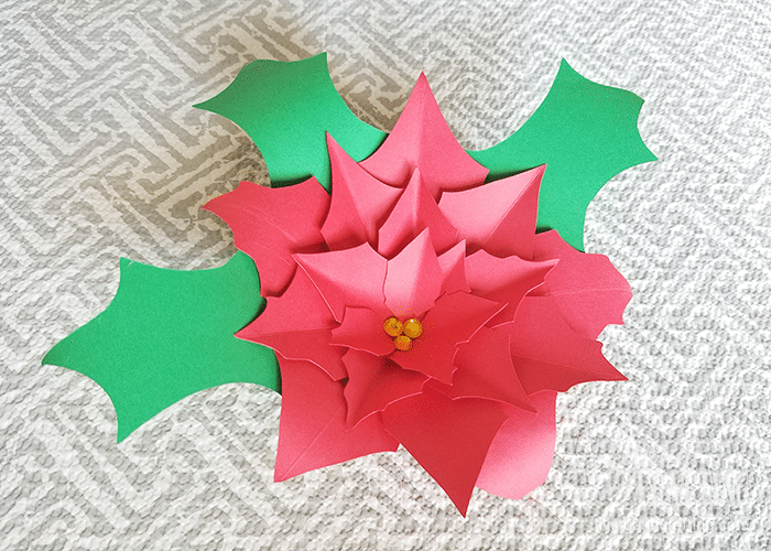 Poinsettia Paper Flower 9