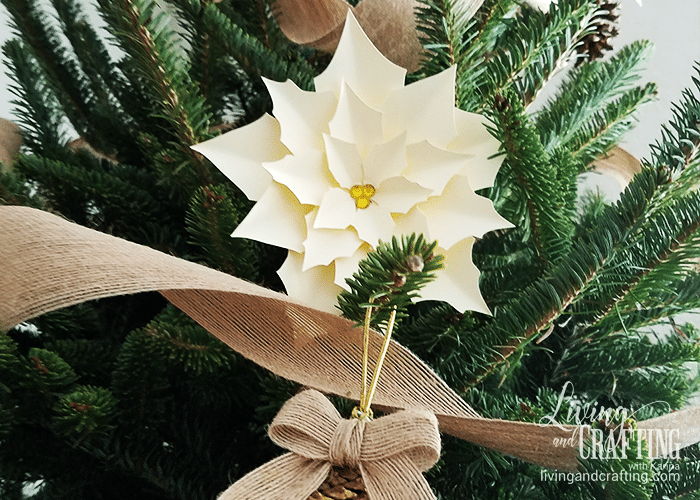 Poinsettia Paper Flower cream