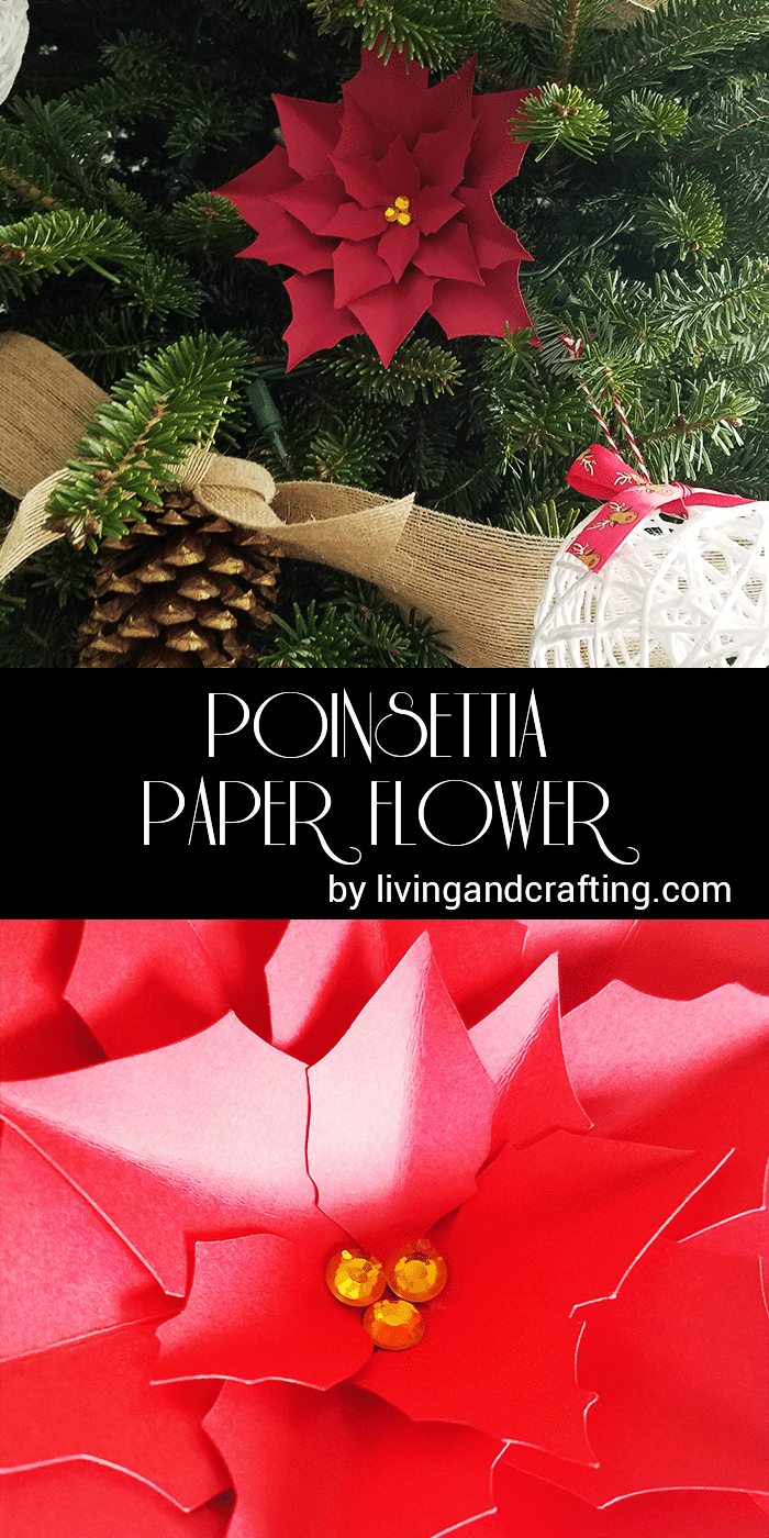 Poinsettia paper flower living and crafting poinsettia paper flower mightylinksfo
