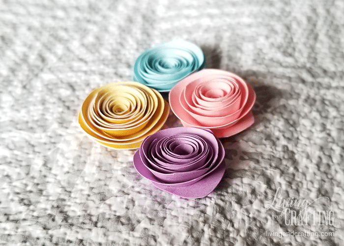 Small easy fast paper flower living and crafting the size of your flower may vary depending on the size of the circle you cut you can use different types of paper you can paste pearls or decorative beads mightylinksfo