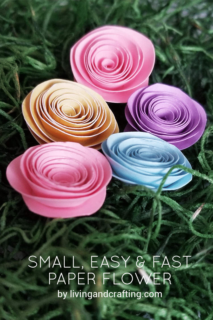 Small easy & fast paper flower ft