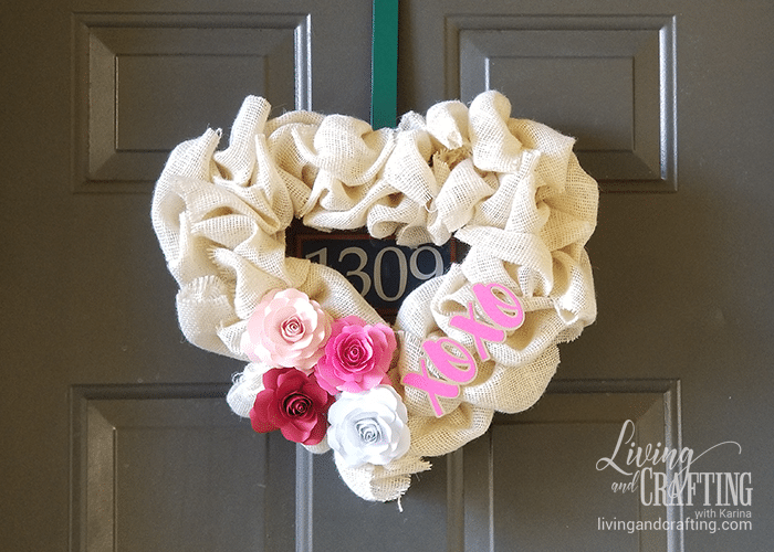 Burlap Heart Valentine's Day Wreath lovely