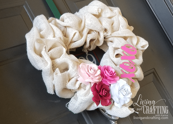 Burlap Heart Valentine's Day Wreath sweet