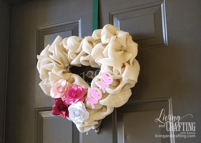 Burlap Heart Valentine's Day Wreath beauty