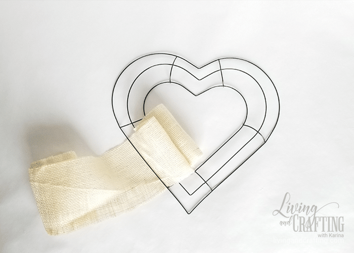 Burlap Heart Valentine's Day Wreath 3
