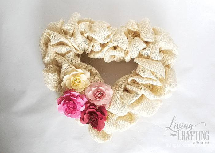 Burlap Heart Valentine's Day Wreath 8