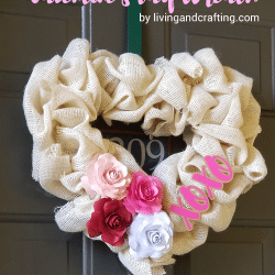 Burlap Heart Valentine's Day Wreath ft