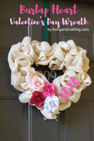 Burlap Heart Valentine's Day Wreath