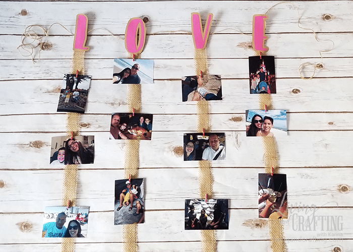 Love Burlap Photo Garland 10