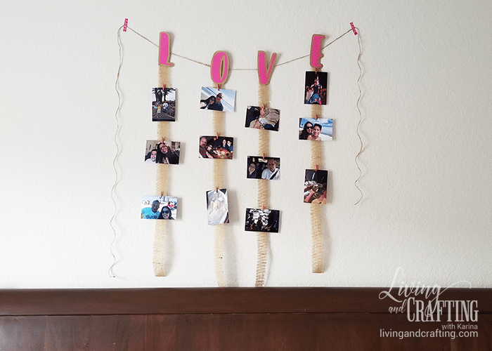 Love Burlap Photo Garland 11