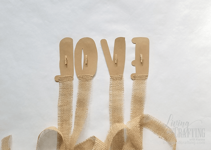 Love Burlap Photo Garland 4