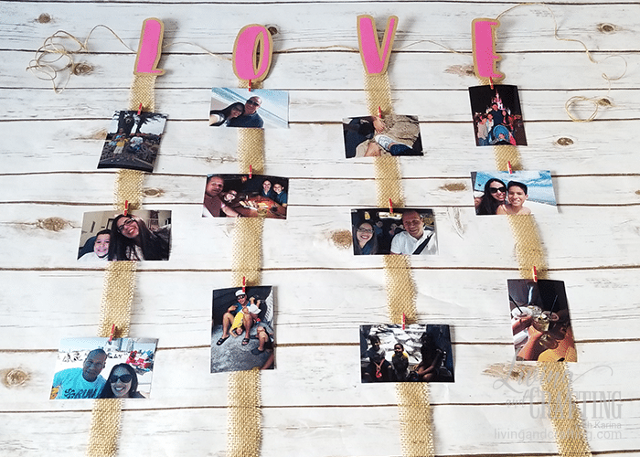 Love Burlap Photo Garland 9