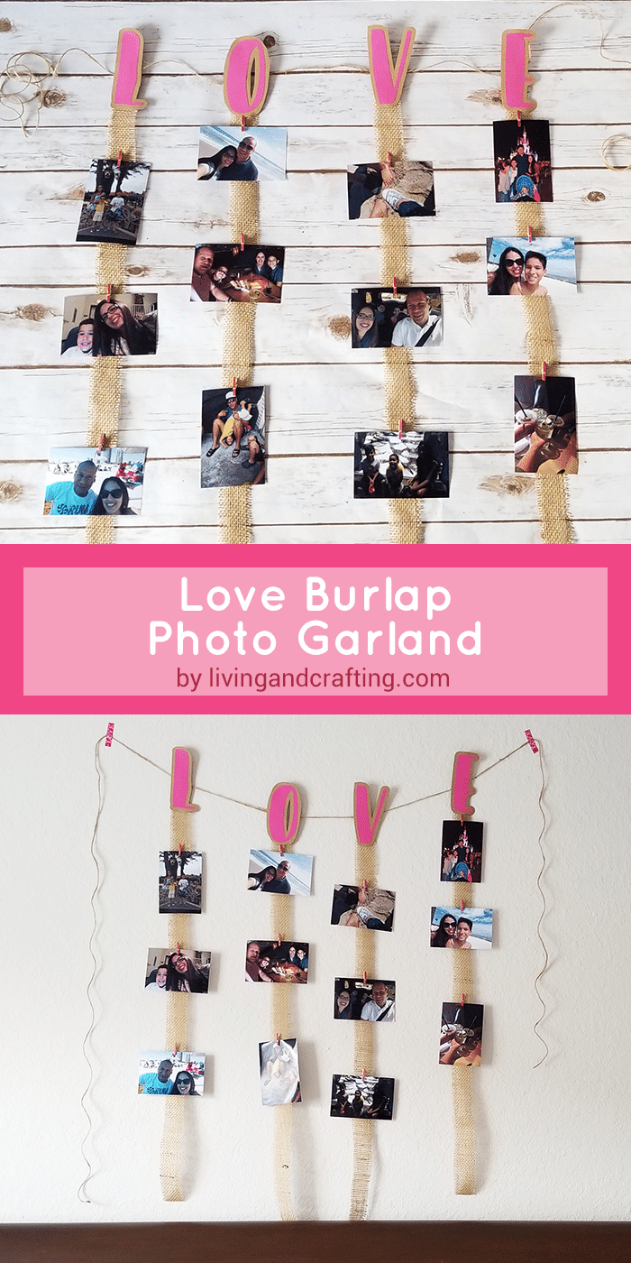 Love Burlap Photo Garland