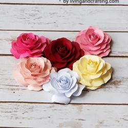 Mini Paper Rose ft