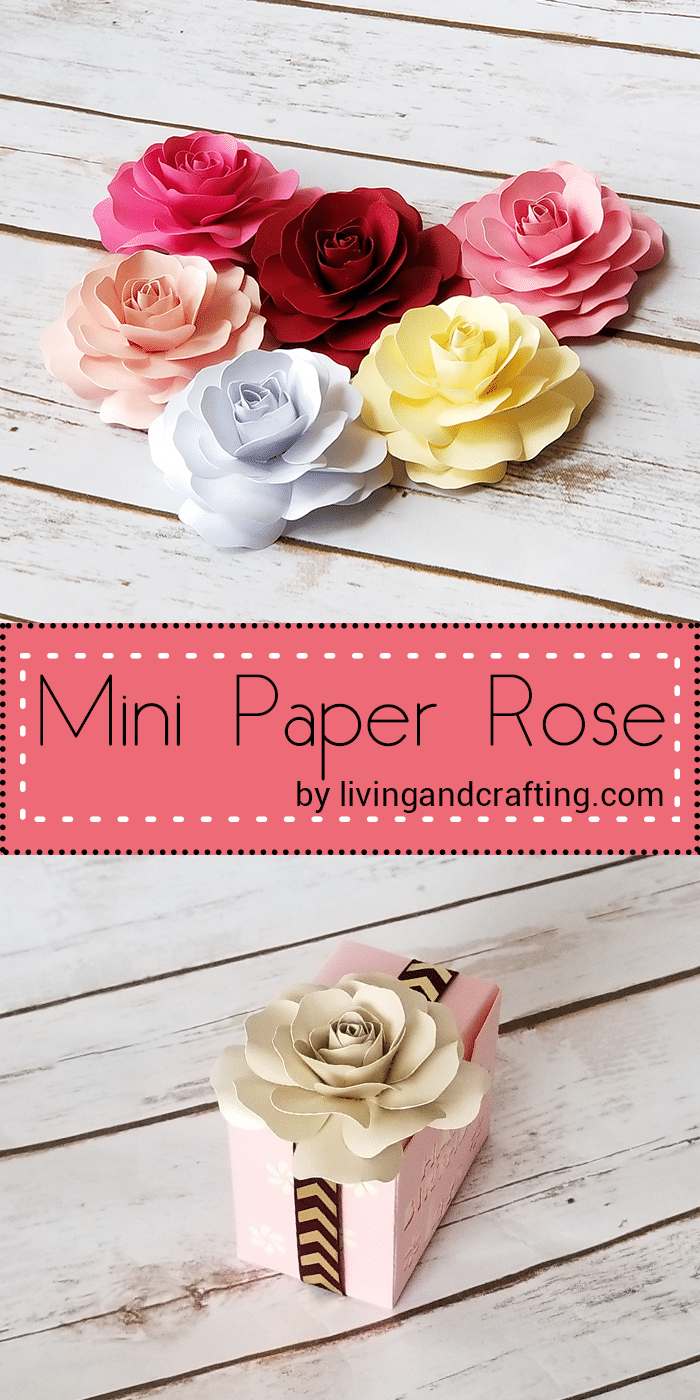 Mini Paper Rose - Living and Crafting