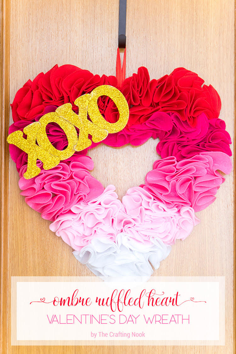 Ombre Valentine´s Day Wreath