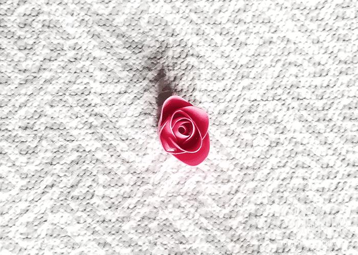 mini paper rose 12