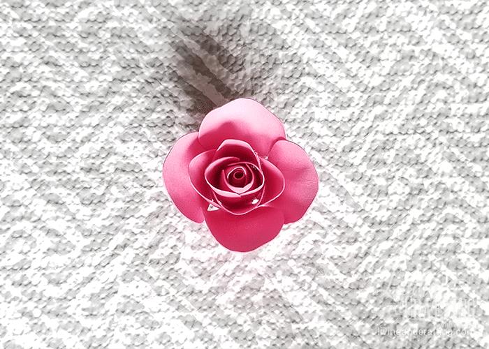 mini paper rose 16