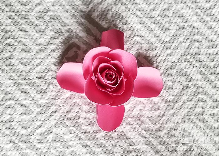 mini paper rose 18
