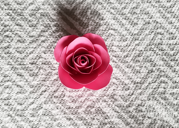 mini paper rose 21