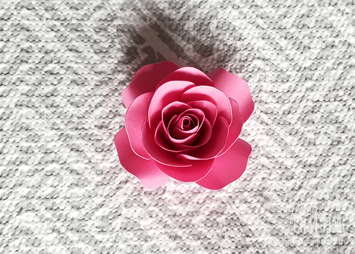 Mini Paper Rose Living And Crafting