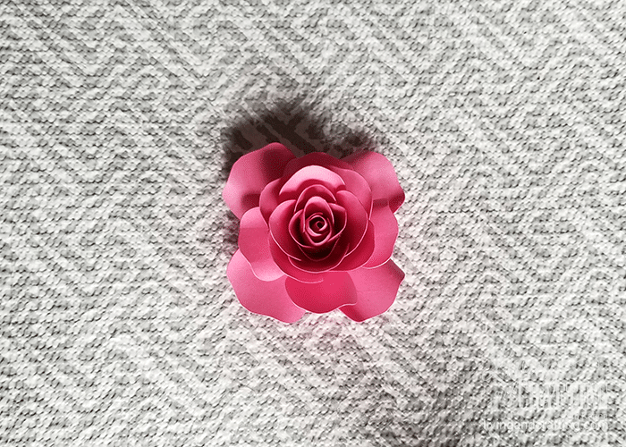 mini paper rose 27