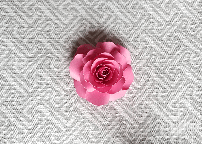 mini paper rose 30