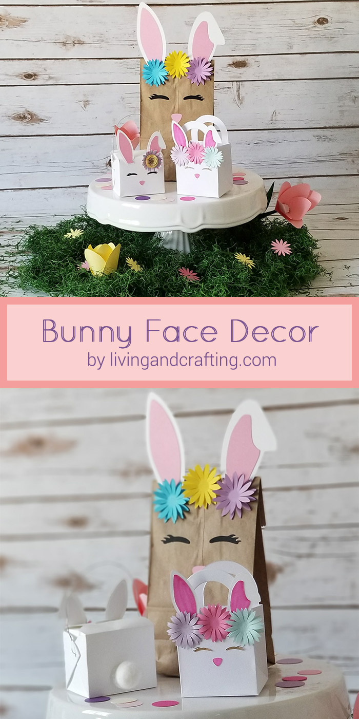 DIY Easter Bunny Face Decor - Living and Crafting