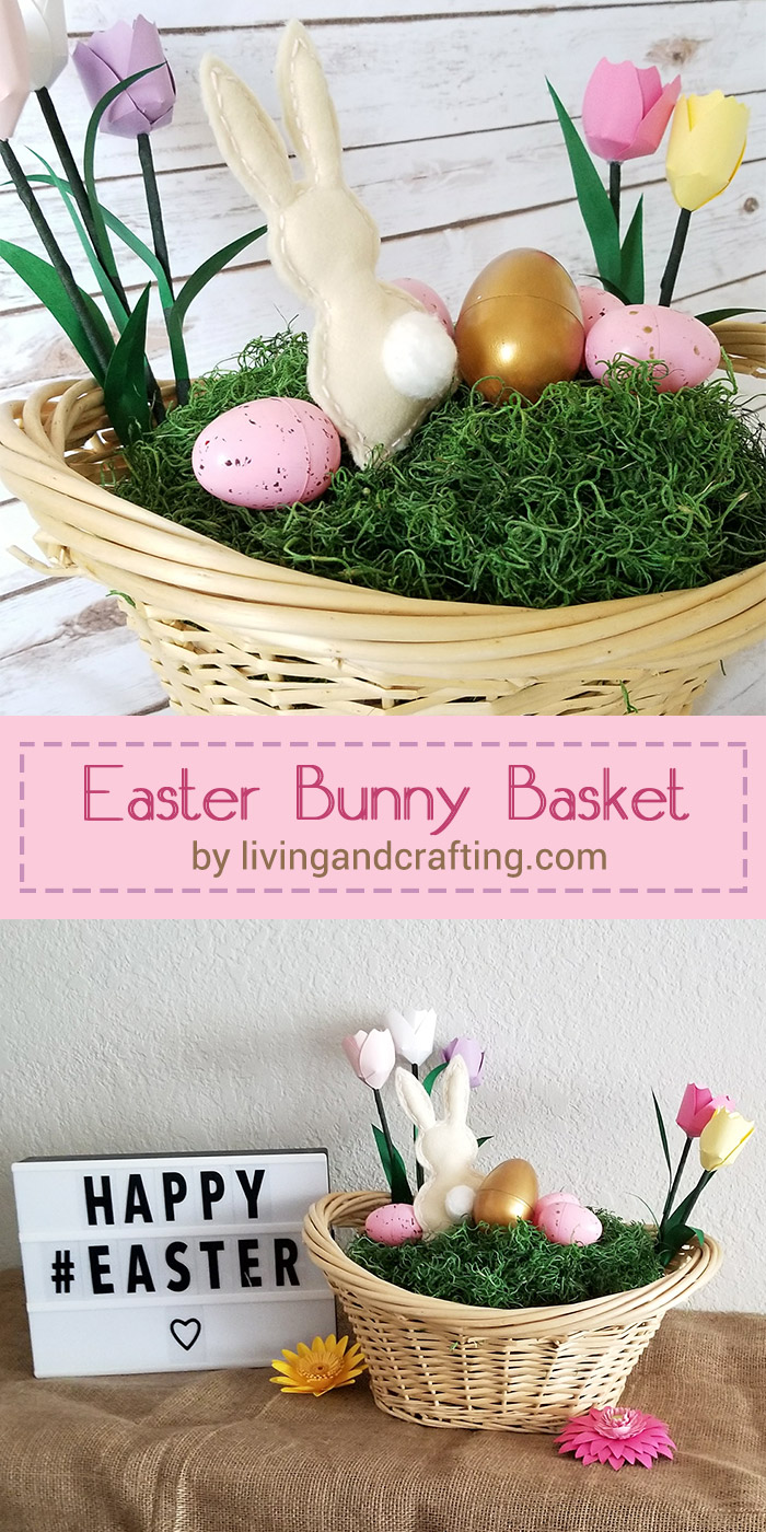 Easter Bunny Basket pin