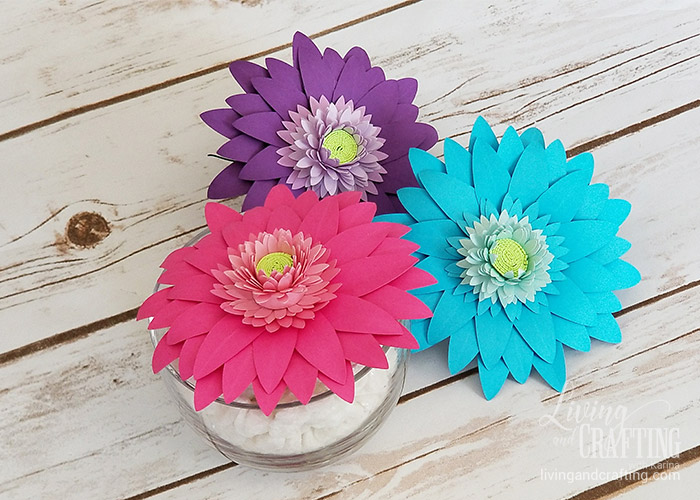Gerbera Daisy Paper Flower colorful