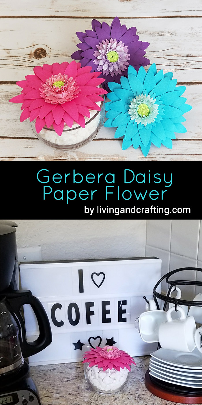 Diy gerbera daisy paper flower living and crafting gerbera daisy paper flower mightylinksfo Gallery
