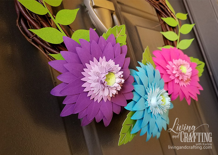 Rustic Spring Wreath colorful
