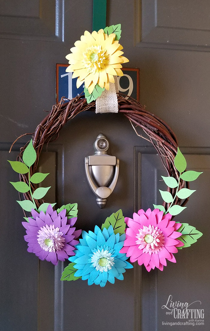 Rustic Spring Wreath front door
