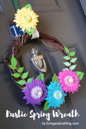Colorful DIY Rustic Spring Wreath