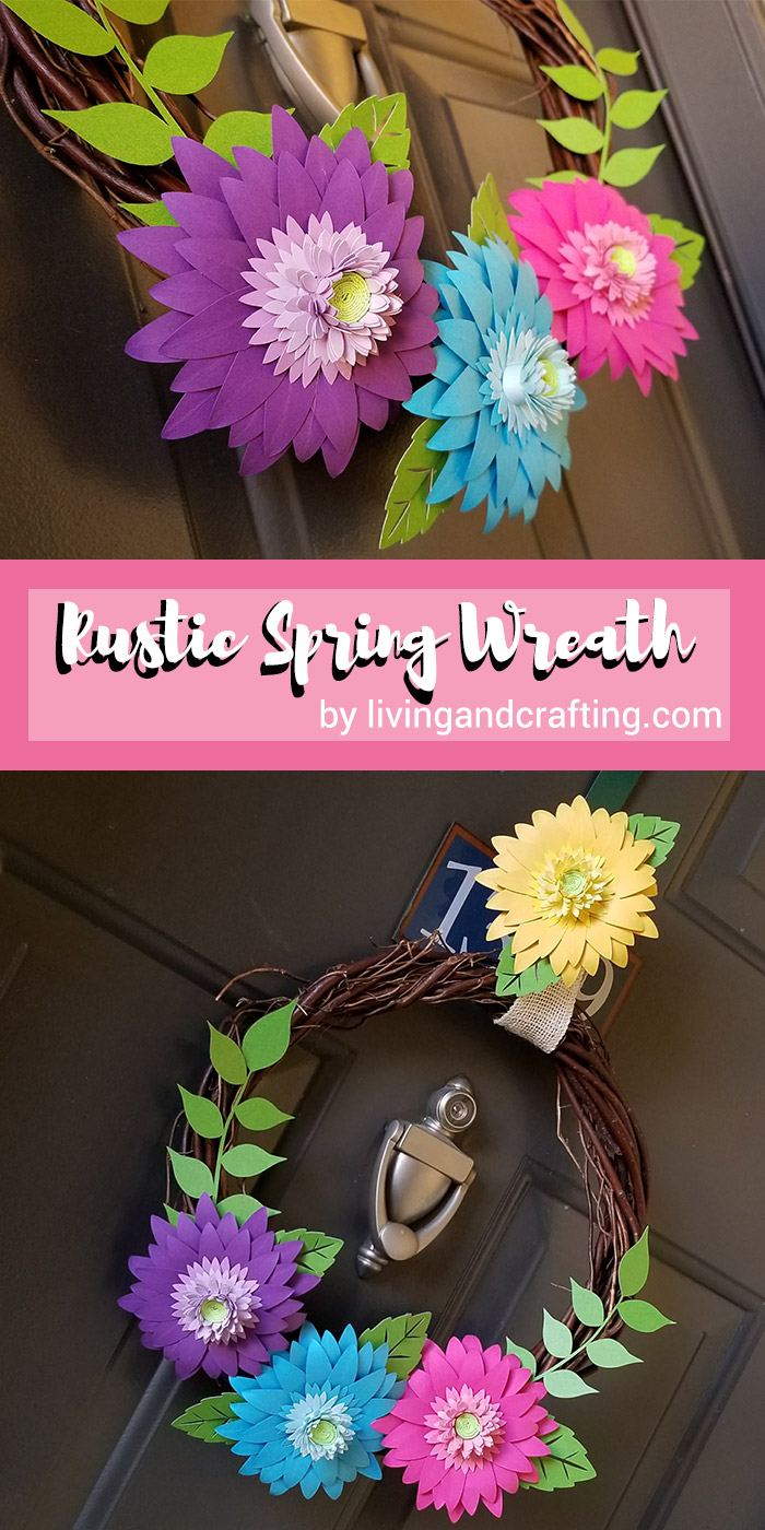 Rustic Spring Wreath pin