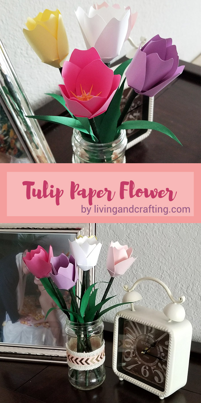 Tulip Paper Flower pin