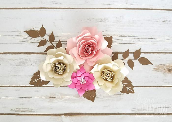 DIY Mini Hope Paper Flower backdrop