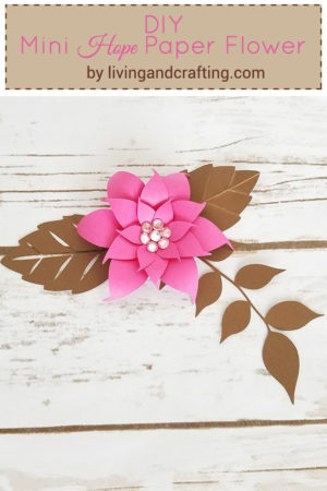DIY Mini Hope Paper Flower with free template